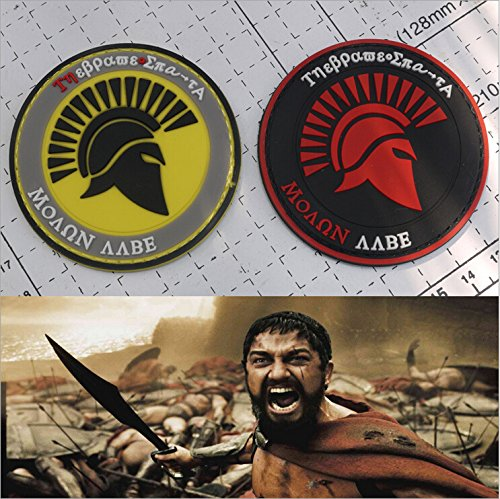 FairyMotion 2 Colors Sparta Worrior 3D Embroidery Patch Armband Ancient Rome Soldier Velcro Tactical Gear Outdoor Badge Cloth Patches 1 Pcs Perfect Patches