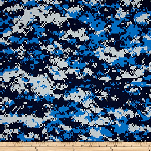 Urban Camouflage Blue Fabric By The Yard (Digital Camouflage Fabric compare prices)