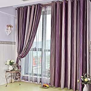 Fadfay purple curtains for living room european curtains for the bedroom 2 panels - Amazon curtains living room ...