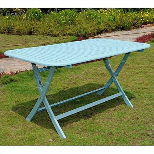 Chelsea Acacia Painted Folding Patio Dining Table (Outdoor Folding Dining Table compare prices)