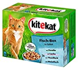 Kitekat Katzenfutter Fisch-Box in Gelee, 48 Beutel (4 x 12 x...