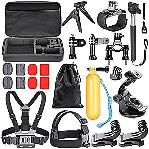 Neewer 21 in-1 Essential - Kit de accesorios deportivos al aire libre para GoPro HD Hero4 Black/Silver Hero 1/ 2/ 3/ 3+/ 4/ SJ4000