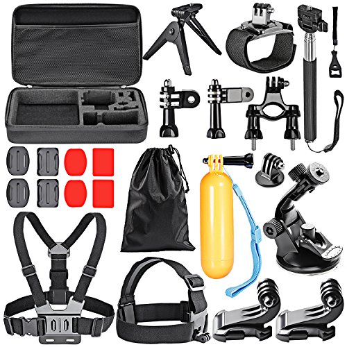 Neewer® 21IN1 Accessori Kit per GoPro Hero4 Session Hero1 2 3 3+ 4 SJ4000 5000 6000 7000 Xiaomi Yi in Nuoto Canottaggio Sci Arrampicata Bicicletta Campeggio Immersione e altri Sport all'Aperto