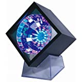 Lightahead LED Flashing Cube With Transparent Base and UL adaptor Color changing 47 LEDs adjustable flash rate Cube light for Disco party club bar DJ