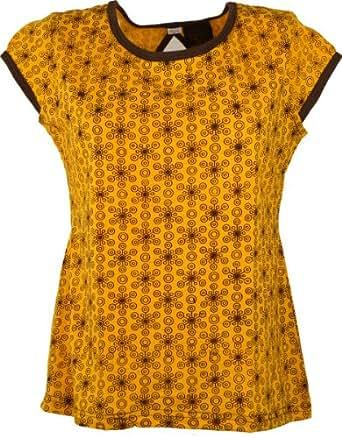 Rétro-chic haut Goa - brun jaune / Tops et chemises/ CŽest une variante de produit. Image et couleur peut être différente de la principale Variante de produit :