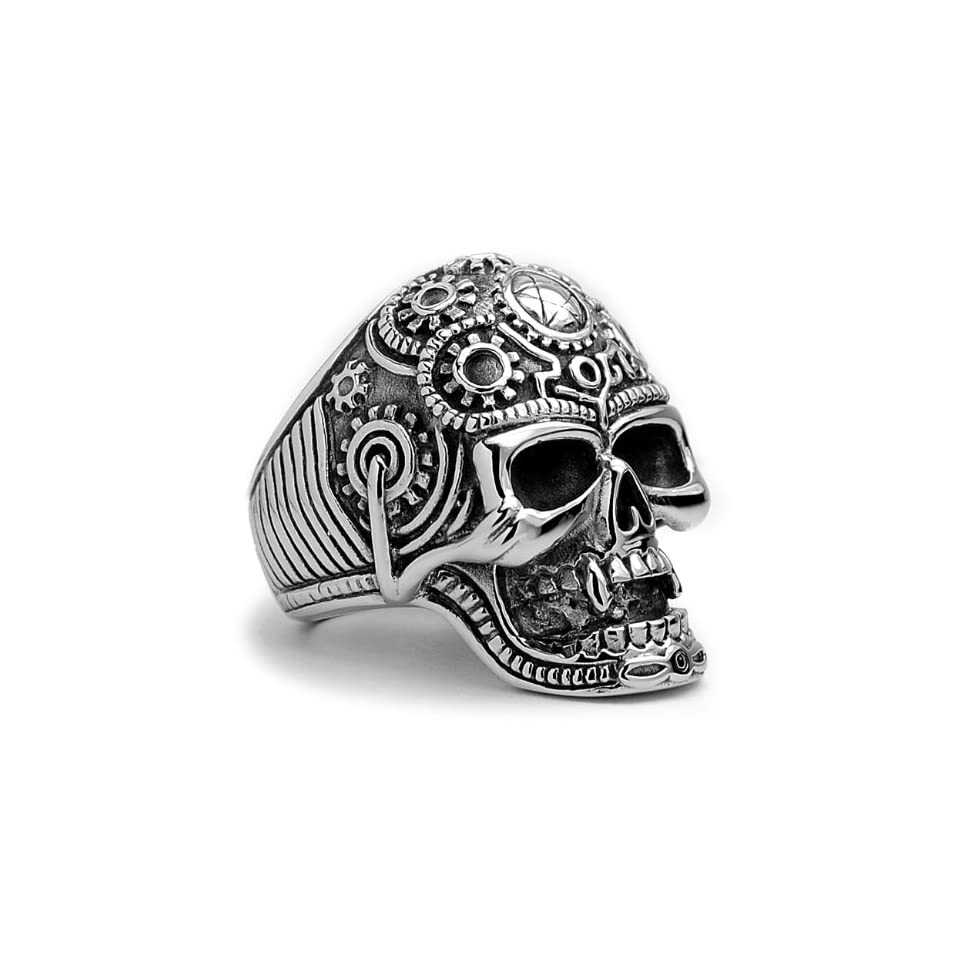 The Ultimate Stainless Steel Casted Skull Biker Ring Sizes 9 to 14