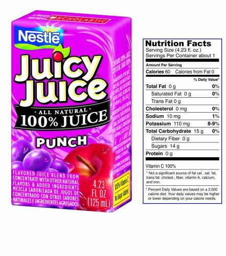 Juicy Juice Nestle, Juicy Juice Fun Size-Punch 4.23Oz 40 Boxes front-992031