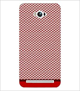 PrintDhaba Zig Zag Pattern D-1697 Back Case Cover for ASUS ZENFONE MAX ZC550KL (2016) (Multi-Coloured)