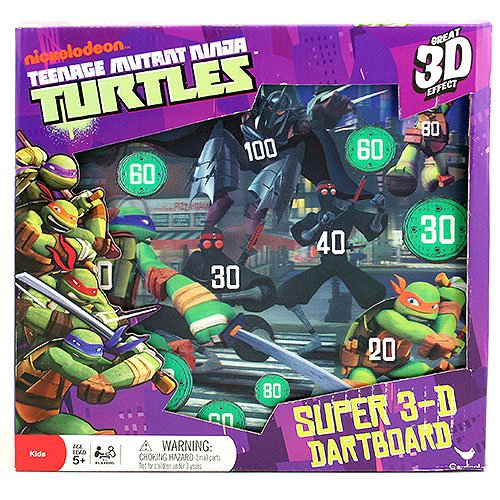 Teenage Mutant Ninja Turtles Super 3-D Dartboard