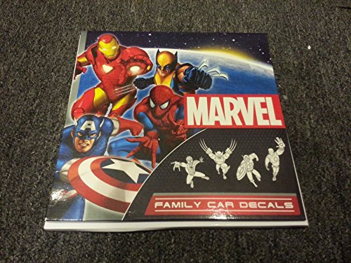 Marvel Comics Superhero Family Car Decal Set - 1