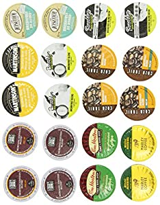 Crazy Cups Rise and Shine Caffiene and Decaf Single-cup coffee for Keurig Single serve cup Brewers Portion Packs for Keurig Brewers Gift Sampler Pack, 20 Count