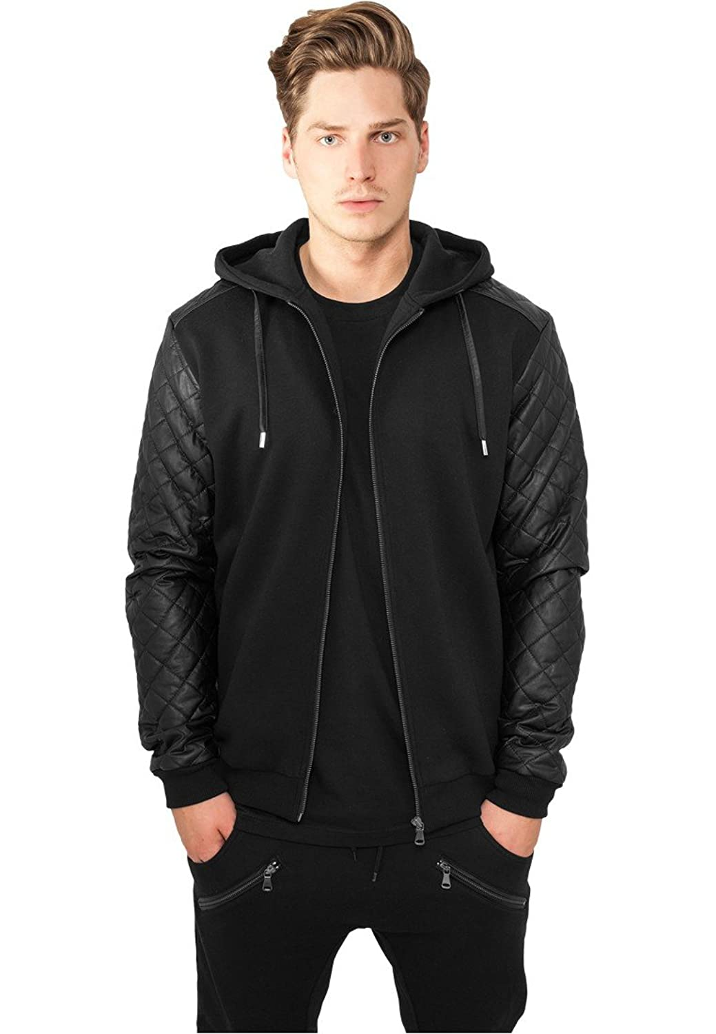 Diamond Leather Imitation Sleeve Zip Hoody jetzt kaufen