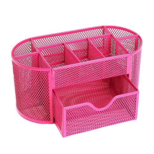 niceeshoptm-multifonctionnel-9-composants-tableau-metal-desktop-box-de-stockage-organisateur-rose