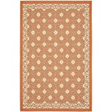 Safavieh Courtyard Collection CY7810-21A7 Terracotta and Cream Area Rug, 8 feet by 11 feet (8' x 11')