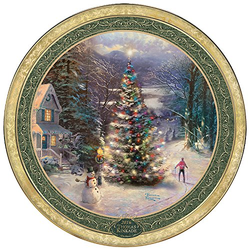 Thomas Kinkade 2016 Annual Christmas Collector Plate by The Bradford Exchange