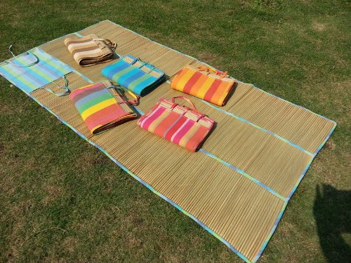 Best Buy 36x72 Large Portable 3 Folds Straw Beach Mat With 100