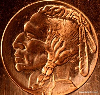 "2012 1 Pound Fine Copper ""Chubby"" Ignot Bar Indian Head, Great Price"