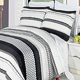 Black and White Circle Dot Bedding Duvet Cover Set King