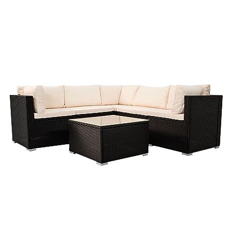 Polyrattan Rattan Lounge Gruppe Loungeset Gartenmöbel Sitzgruppe Sofa Tisch NEU 200133 ( J )