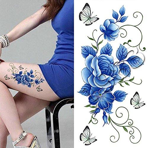 1-pc-tatouages-ephemeres-tattoos-temporaires-impermeables-fleur-papillon-diy-dessin-k022