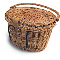 Basil Denver Wicker Oval Basket W/Lid 15020