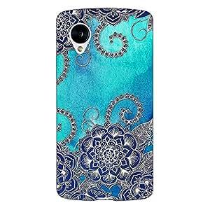 Jugaaduu Blue Doodle Pattern Back Cover Case For Google Nexus 5