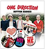 One Direction 1D take me home New Official Badge Pack (4x 25mm & 2x 32mm)