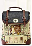 Buenocn Women's Backpack Classic Print Personalized Handbag Backpack Travel Bag Shy513 Black