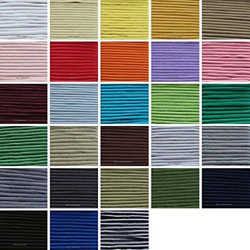 5m Gummikordel 3mm breit (0,38€/m)- 433- dunkelblau- weiß