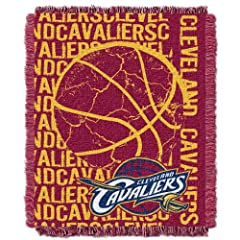 NBA Cleveland Cavaliers 48 x 60-Inch Double Play Jacquard Triple Woven Throw by Northwest