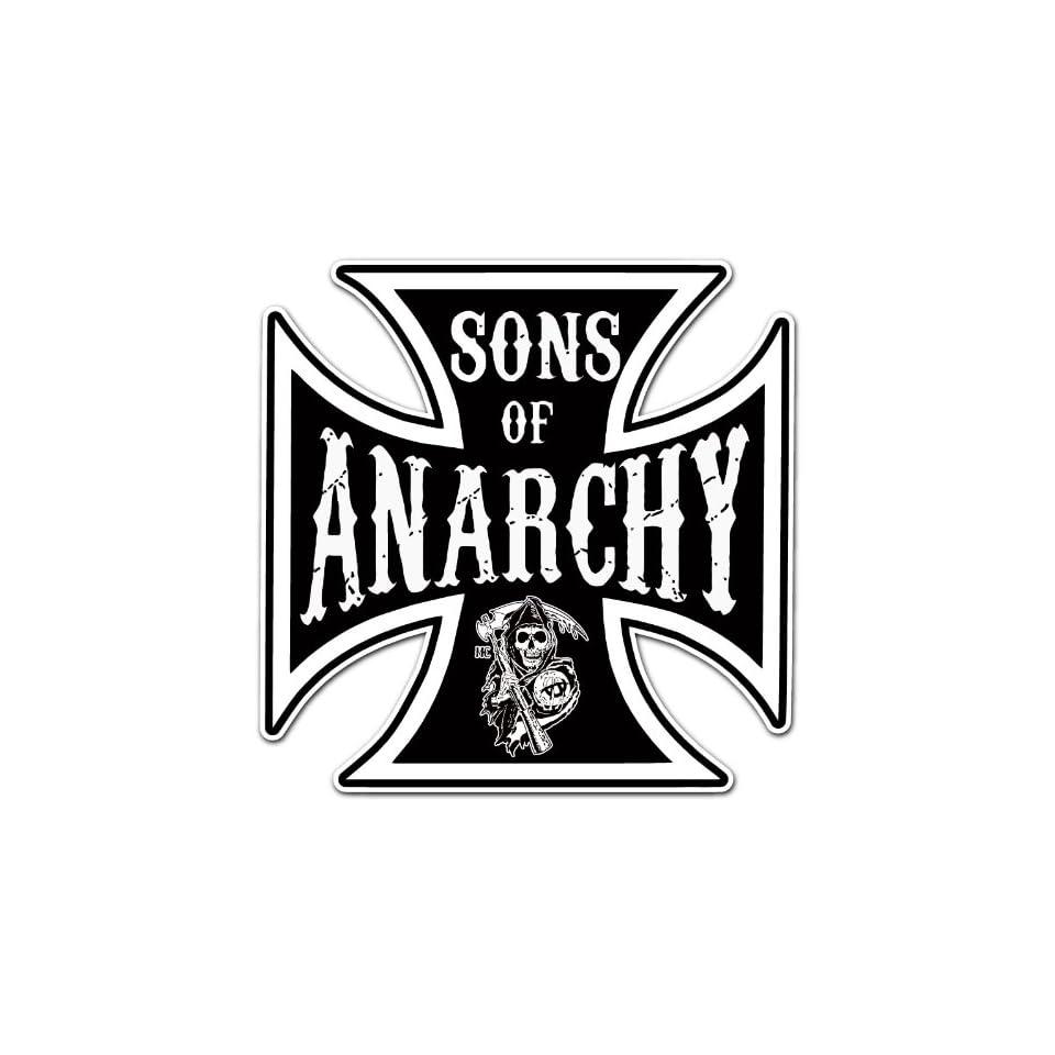 Sons of Anarchy Cross Car Bumper Sticker Decal 4x4