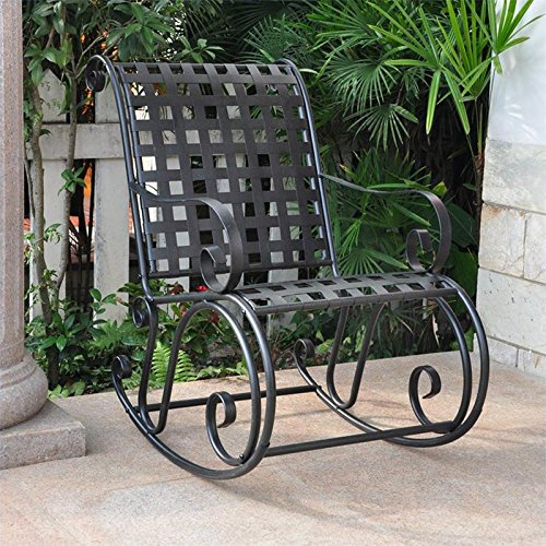 International Caravan Mandalay Iron Scroll Rocker image