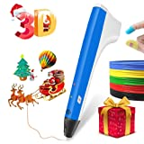 3D Print Pen,Smart 3D Pen Set for Kids with Free Refill Filaments - Intellectual Toy for Boys & Girls, Age 6 & Up DIY & Design Crafting(Blue) (Color: M1 Blue)