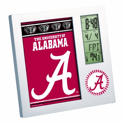 NCAA Alabama Crimson Tide Digital Desk Clock Picture Frame
