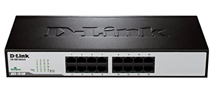 D-Link DES 1016D Switch 16 ports Ethernet Gris