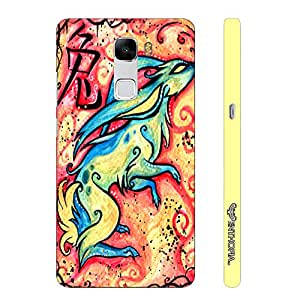 Huawei Honor 7 CHINESE ZODIAC RABBIT designer mobile hard shell case by Enthopia