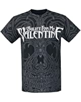 Bullet For My Valentine Lined Skull Allover T-Shirt schwarz