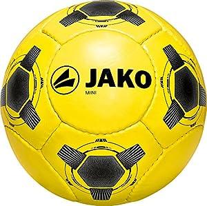 Jako Herren Fußball Miniball, Gelb/Silber/Schwarz, 1, 2377