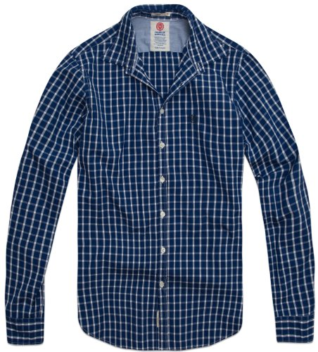 Franklin & Marshall Men's Shirt Shmr405W12 Casual Shirt Multicoloured (True Blue Chk) 56/58
