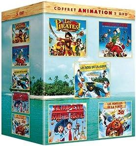 Coffret animation 5 DVD - Les pirates, bons à rien mauvais en tout + Mission : Noël - Les aventures de la famille Noël + Les rois de la glisse + Tempête de boulettes géantes + Les rebelles de la forêt