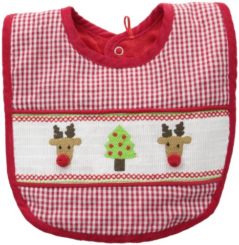 Mud Pie Baby-Girls Newborn Smocked Bib, Multi, 0-12 Months front-574249