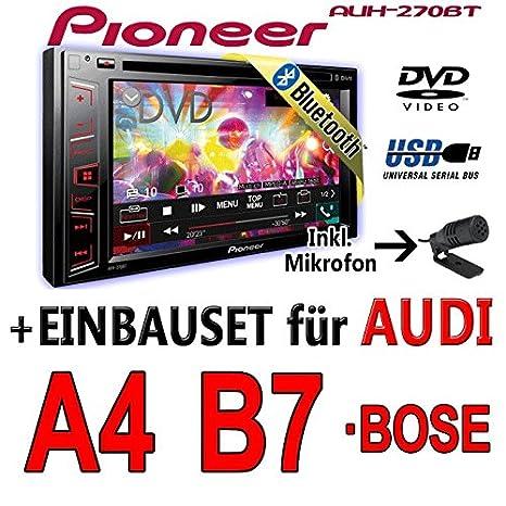 Audi a4 b7 pioneer aVH - 270BT - 2DIN autoradio multimédia avec bluetooth