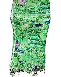 ST-Fashion Women Silk STOLE (STFTDPV03_Multi-color_Multi-color_35)