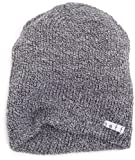 neff Mens Daily Heather Beanie Hat, Black/White, One Size
