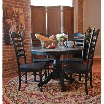 Carolina Classic Winslow Pedestal Table, Antique Black