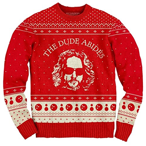 The Big Lebowski The Dude Abides Ugly Christmas Sweater (XXX-Large)