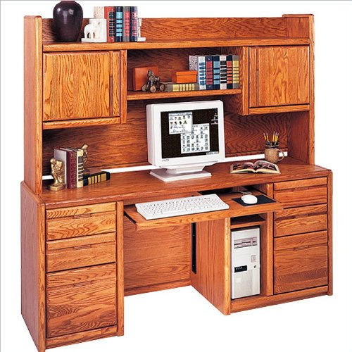 Kathy Ireland Home By Martin Furniture Wood Computer Desk With Hutch In Oak Find Discount
