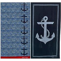 Nautica Anchor and Sail Lines Beach Towel Set