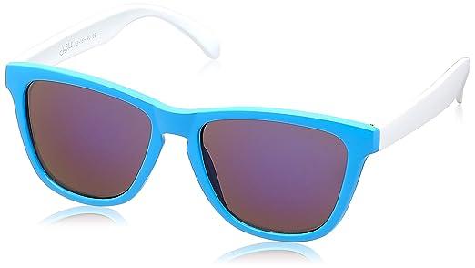 black and gold aviator sunglasses  Joe Black Wayfarer Sunglasses (Blue and White) (JB-6280