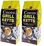 6kg Cocos Grill Briketts Premium Holzkohle Grillkohle aus Kokosnuss -